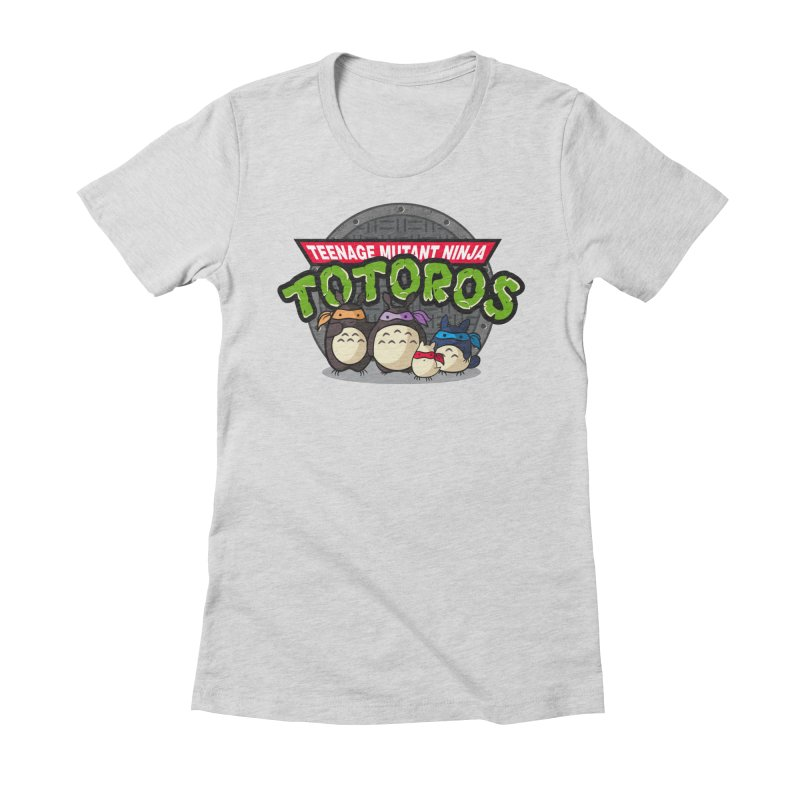 Turtle Neighbors Women's Fitted T-Shirt by fishbiscuit's Artist Shop