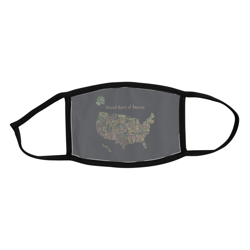 United Beers of America Accessories Face Mask by Fishbiscuit Designs