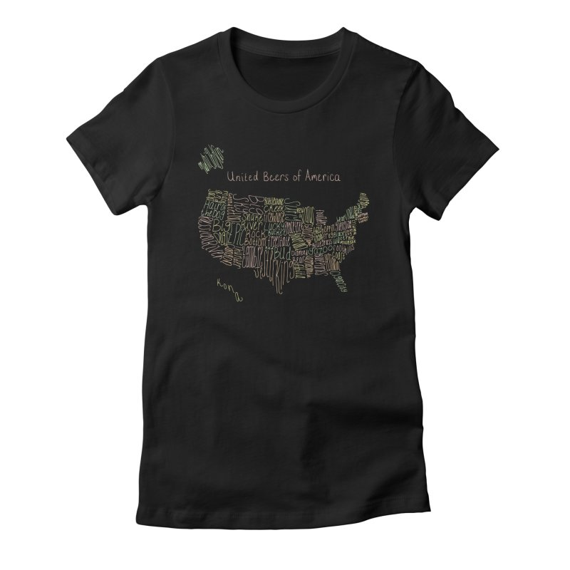 United Beers of America Women's Fitted T-Shirt by fishbiscuit's Artist Shop