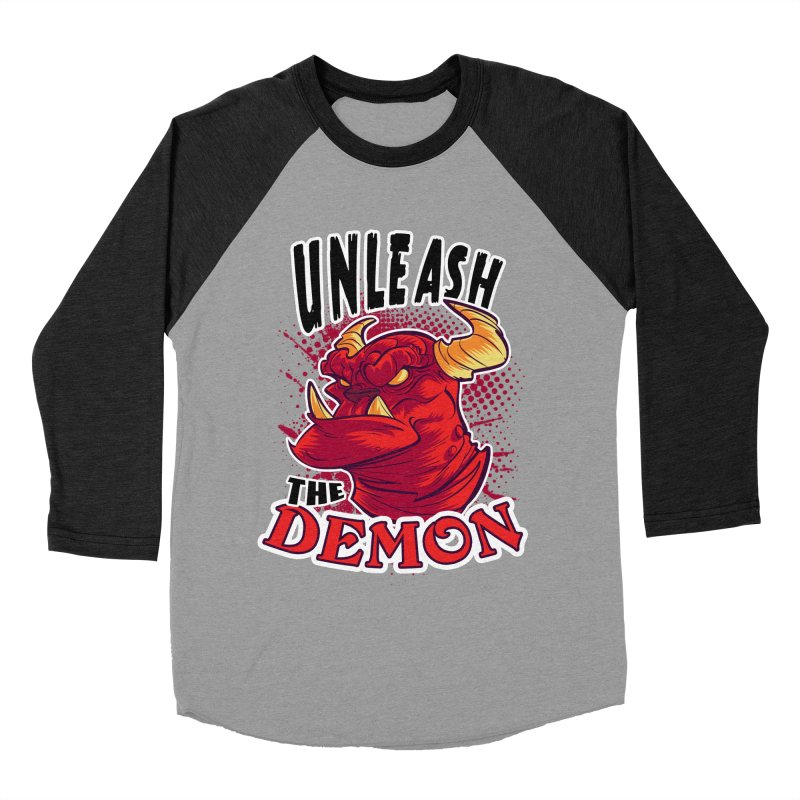 Unleash the Demon Men's Baseball Triblend T-Shirt by fishfinger's Artist Shop