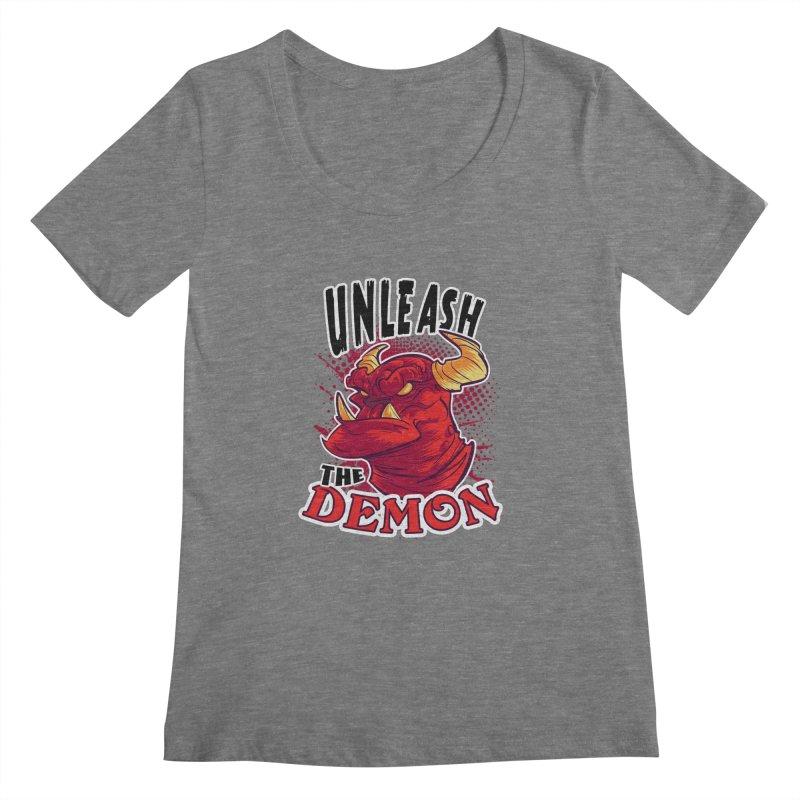 Unleash the Demon Women's Scoopneck by fishfinger's Artist Shop