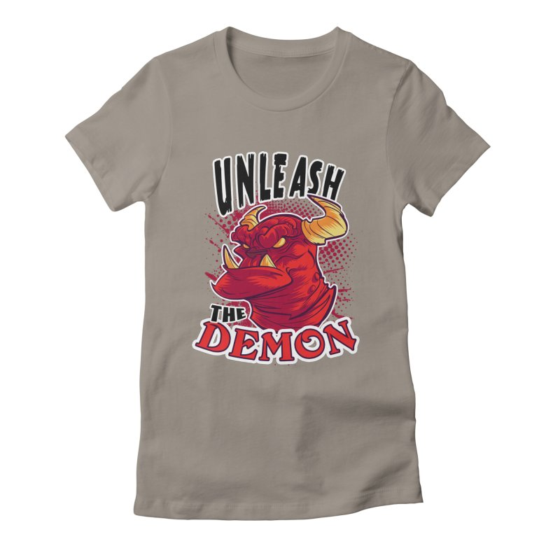 Unleash the Demon Women's Fitted T-Shirt by fishfinger's Artist Shop