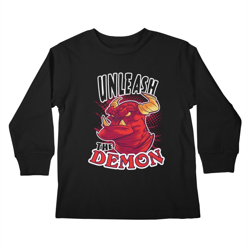 Unleash the Demon Kids Longsleeve T-Shirt by fishfinger's Artist Shop