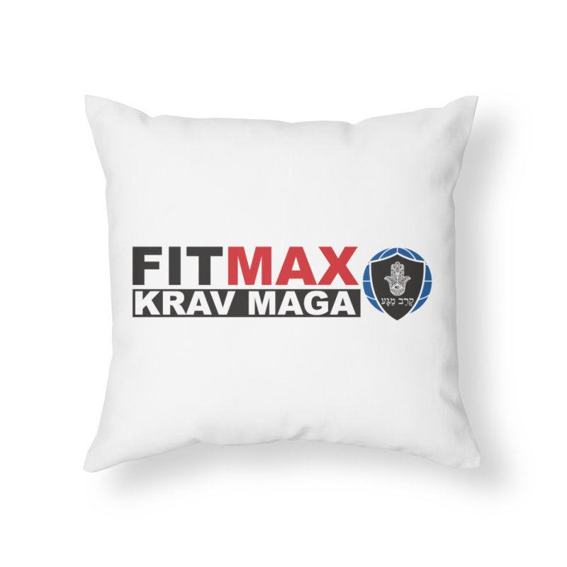FIT MAX Logo Home Throw Pillow by fitmaxkravmaga's Artist Shop