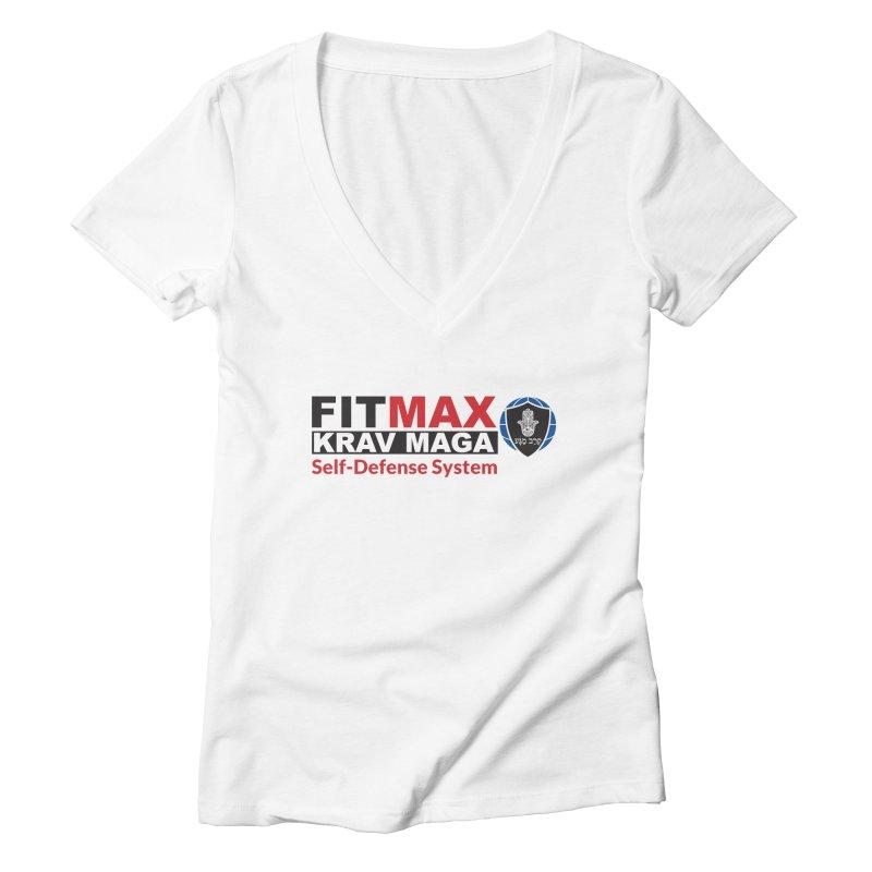 FITMAX Krav Maga - Self Defense System Women's V-Neck by fitmaxkravmaga's Artist Shop