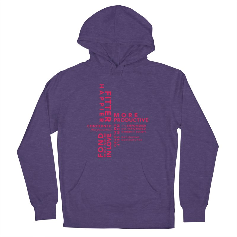 Fitter Happier Women's French Terry Pullover Hoody by fitterhappierdesign's Artist Shop