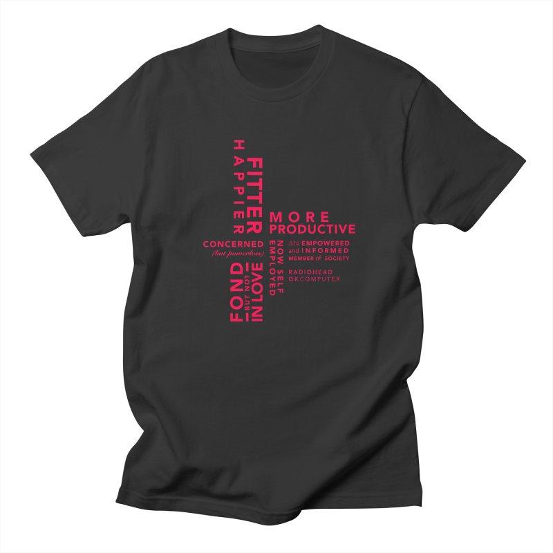 Fitter Happier Men's Regular T-Shirt by fitterhappierdesign's Artist Shop