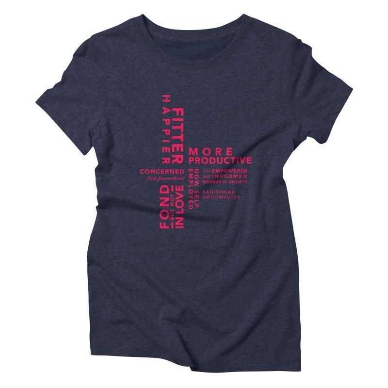 Fitter Happier Women's Triblend T-shirt by fitterhappierdesign's Artist Shop