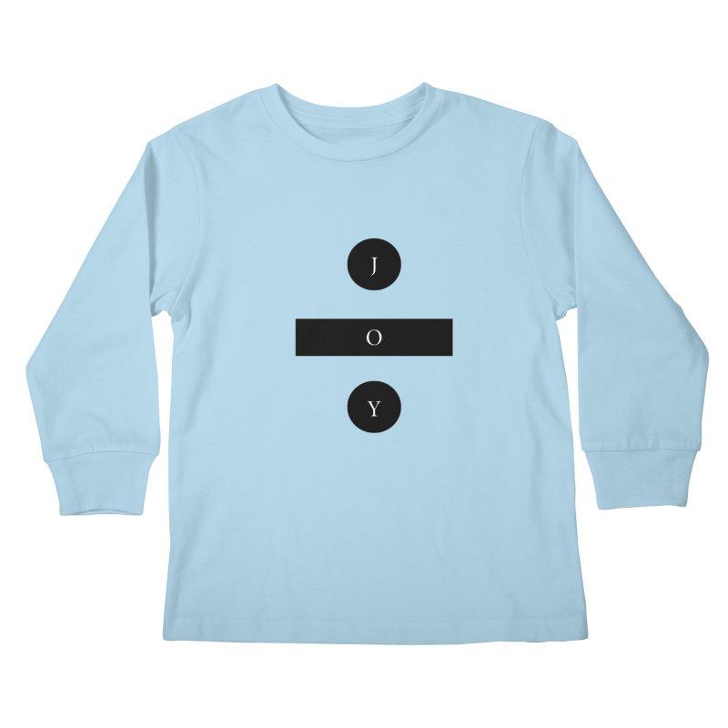 Joy Division Kids Longsleeve T-Shirt by fitterhappierdesign's Artist Shop