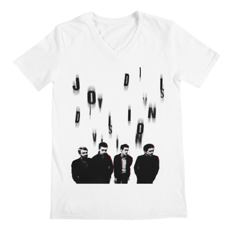 Joy Division Photocopy Men's Regular V-Neck by fitterhappierdesign's Artist Shop
