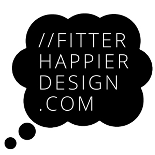 fitterhappierdesign's Artist Shop Logo
