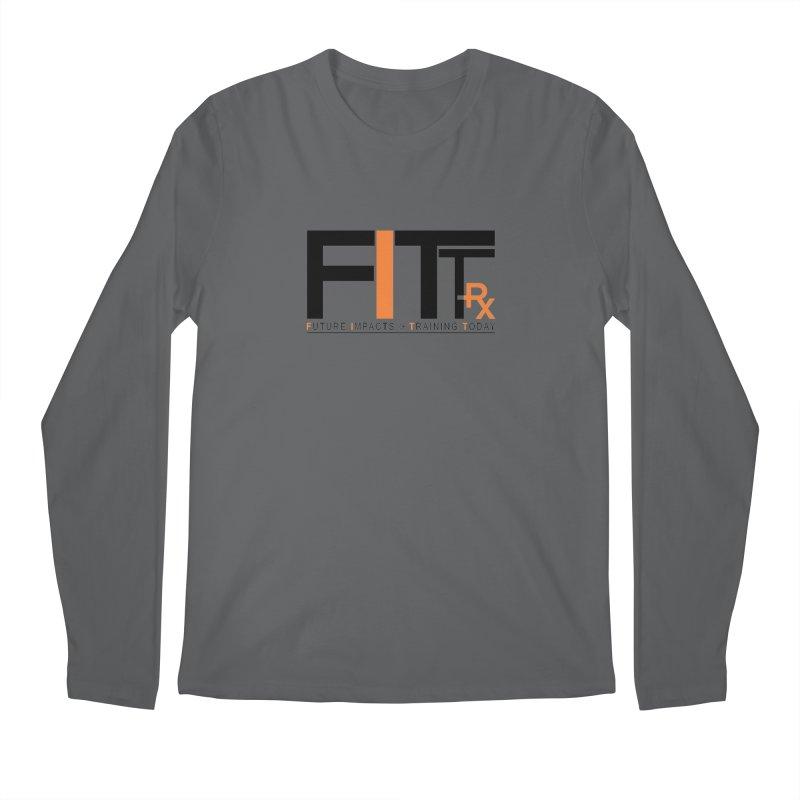 FITT-RX black logo Men's Longsleeve T-Shirt by FITT-RX's Apparel Shop