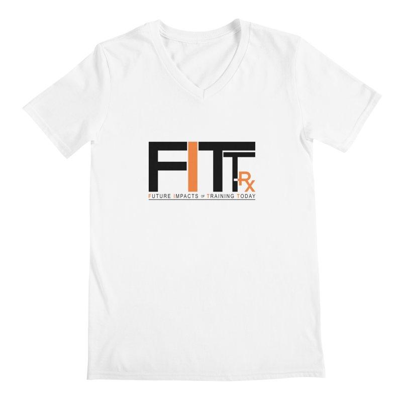FITT-RX black logo Men's V-Neck by FITT-RX's Apparel Shop