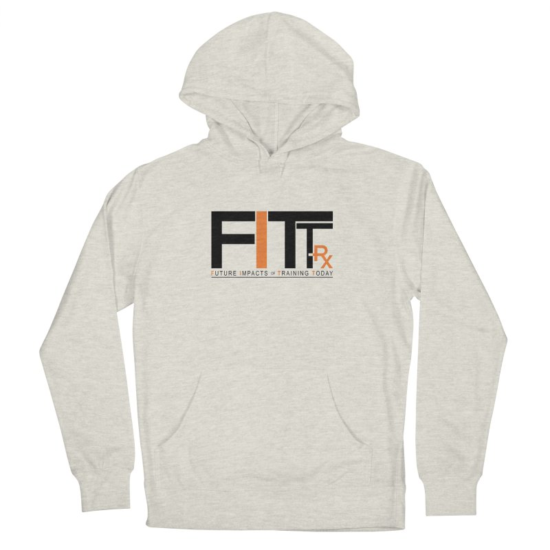 FITT-RX black logo Women's French Terry Pullover Hoody by FITT-RX's Apparel Shop