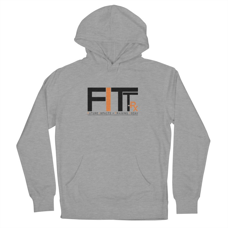 FITT-RX black logo Men's French Terry Pullover Hoody by FITT-RX's Apparel Shop