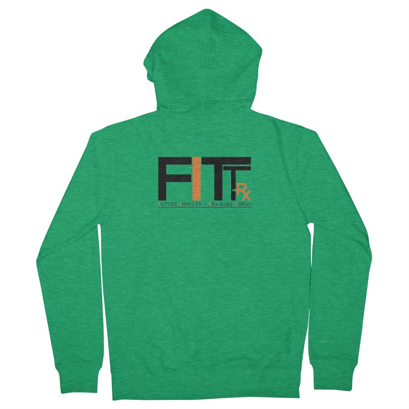 FITT-RX black logo Women's Zip-Up Hoody by FITT-RX's Apparel Shop