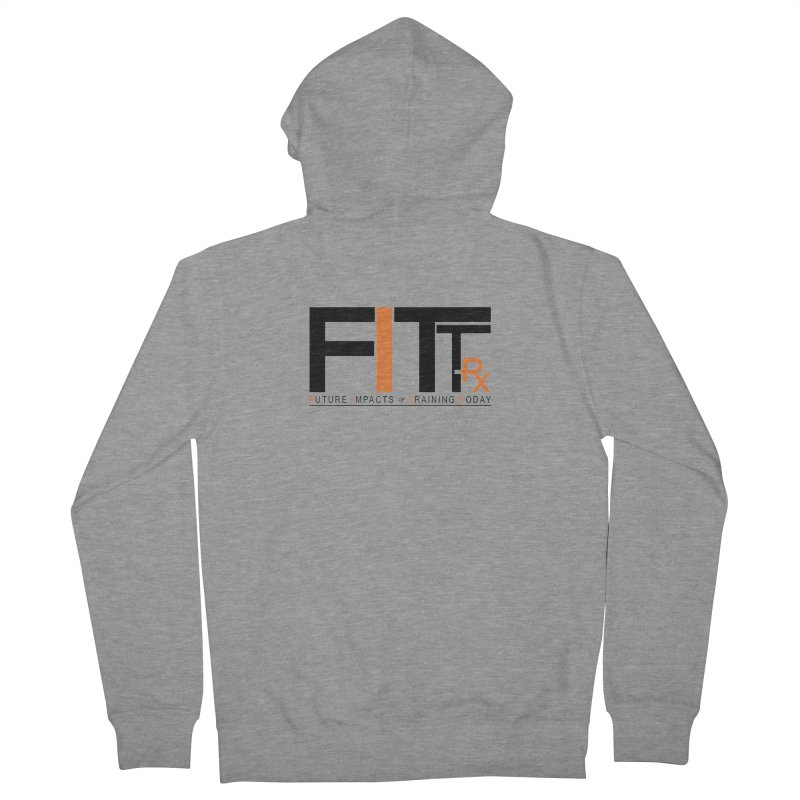FITT-RX black logo Men's French Terry Zip-Up Hoody by FITT-RX's Apparel Shop