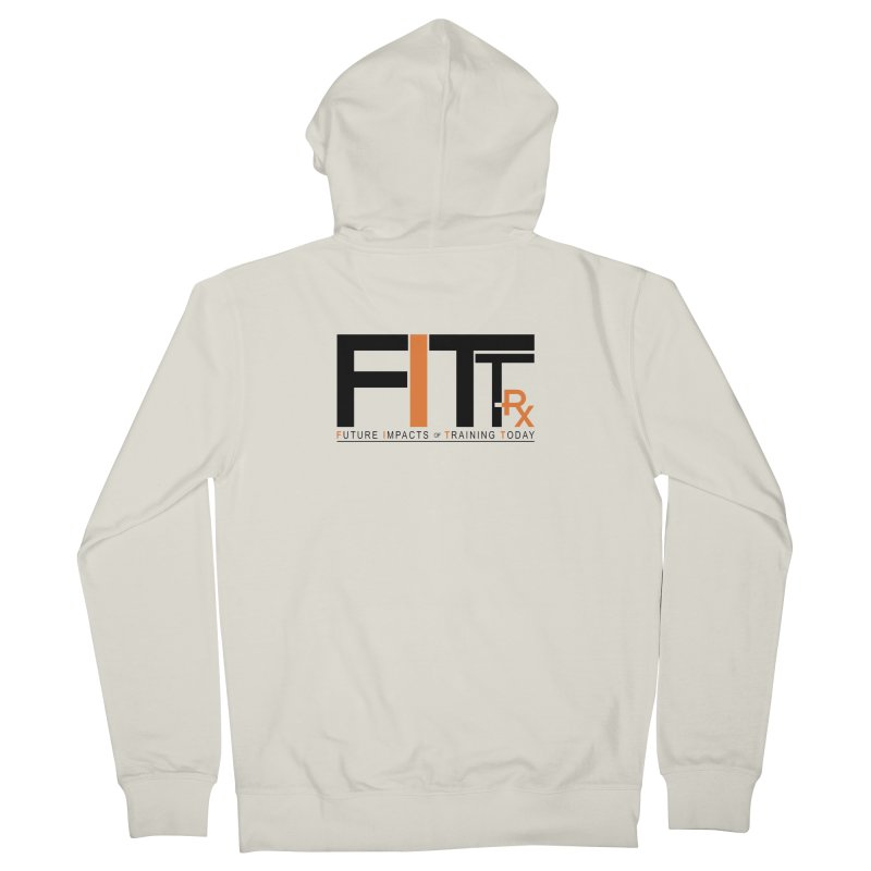 FITT-RX black logo Men's Zip-Up Hoody by FITT-RX's Apparel Shop