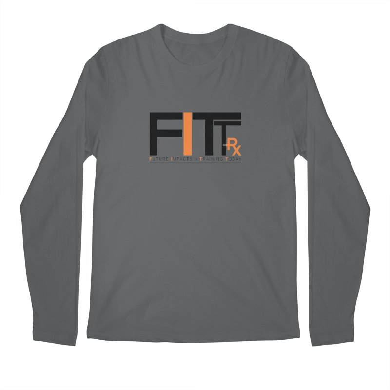 FITT-RX black logo Men's Regular Longsleeve T-Shirt by FITT-RX's Apparel Shop
