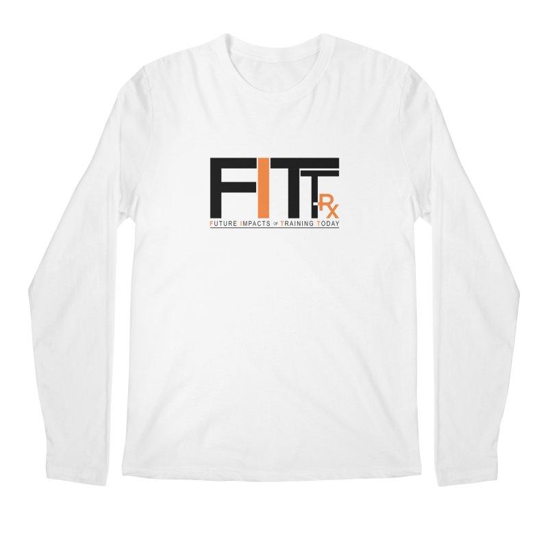 FITT-RX black logo Men's Regular Longsleeve T-Shirt by FITT-RX's Apparel Shop