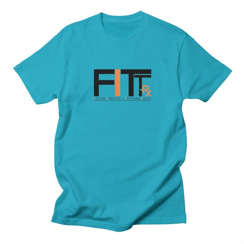 FITT-RX black logo Men's Regular T-Shirt by FITT-RX's Apparel Shop