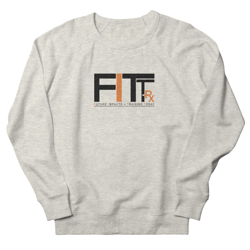FITT-RX black logo Men's French Terry Sweatshirt by FITT-RX's Apparel Shop