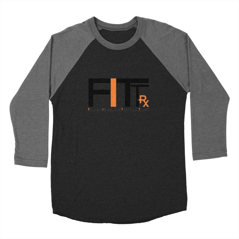 FITT-RX black logo Women's Baseball Triblend Longsleeve T-Shirt by FITT-RX's Apparel Shop