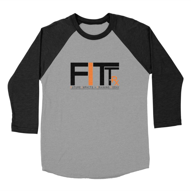 FITT-RX black logo Women's Baseball Triblend Longsleeve T-Shirt by FITT-RX's Apparel Shop