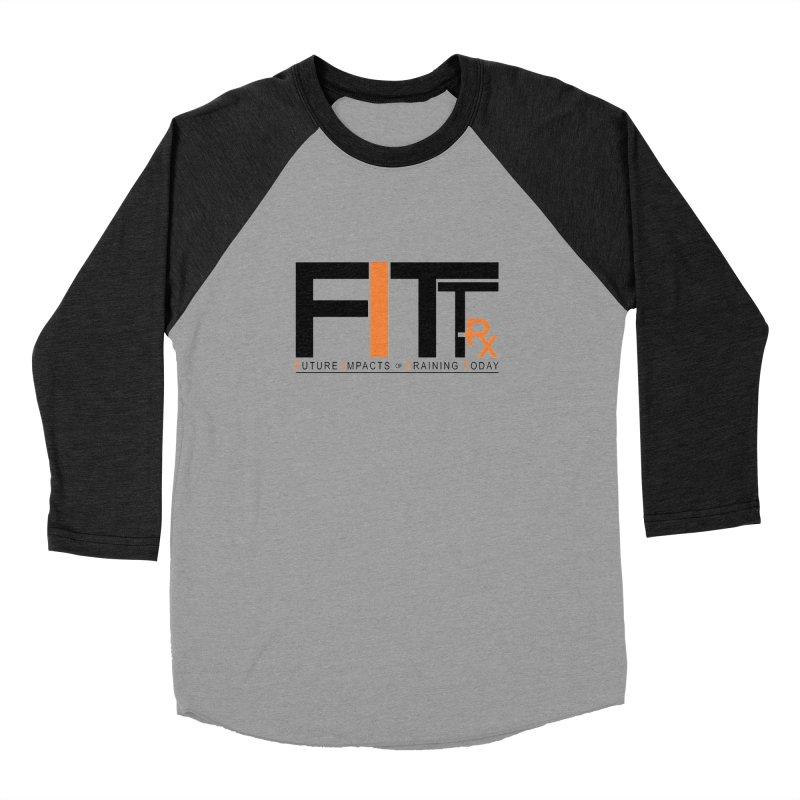 FITT-RX black logo Men's Baseball Triblend T-Shirt by FITT-RX's Apparel Shop
