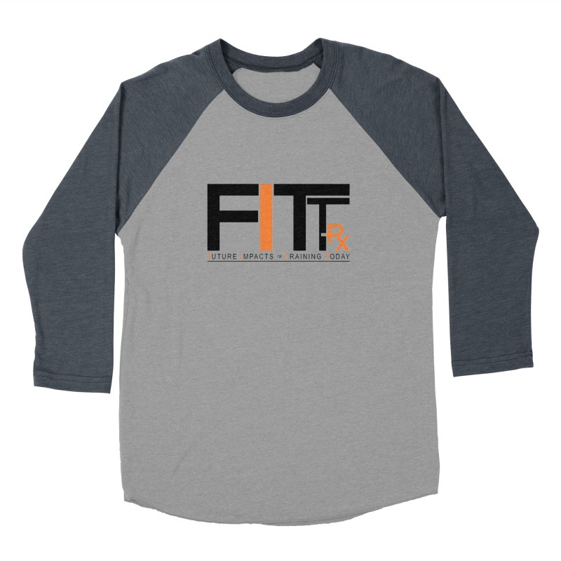 FITT-RX black logo Men's Baseball Triblend Longsleeve T-Shirt by FITT-RX's Apparel Shop