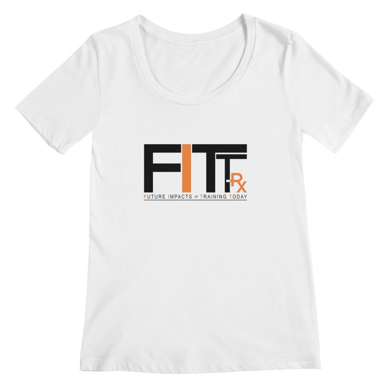 FITT-RX black logo Women's Scoopneck by FITT-RX's Apparel Shop