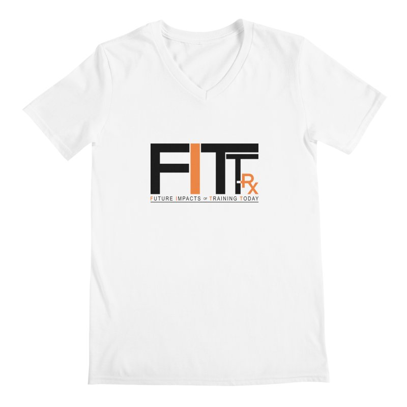 FITT-RX black logo Men's Regular V-Neck by FITT-RX's Apparel Shop