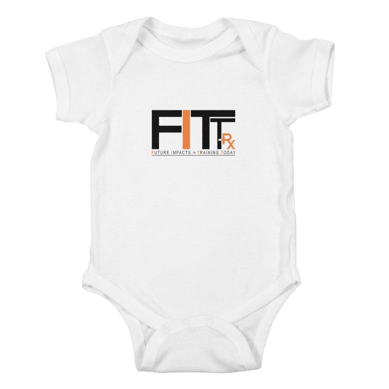 FITT-RX black logo Kids Baby Bodysuit by FITT-RX's Apparel Shop