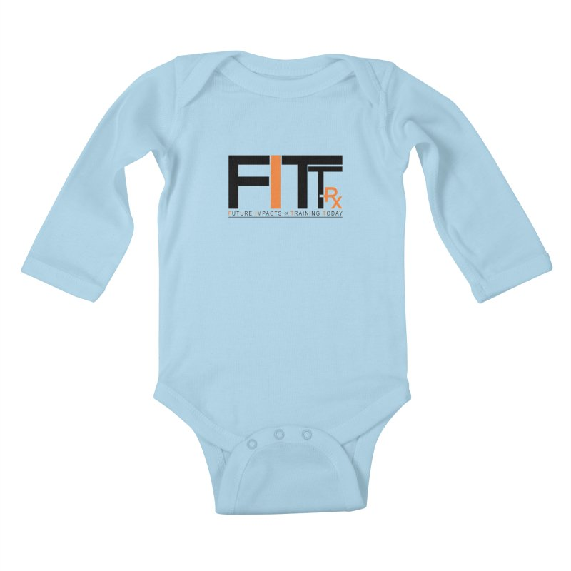 FITT-RX black logo Kids Baby Longsleeve Bodysuit by FITT-RX's Apparel Shop