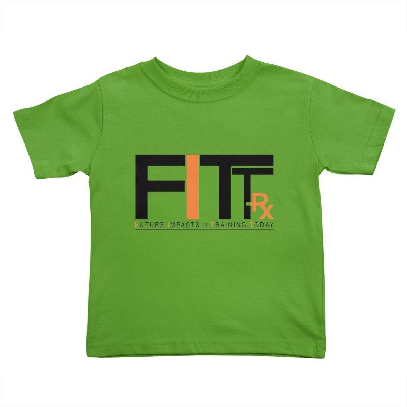 FITT-RX black logo Kids Toddler T-Shirt by FITT-RX's Apparel Shop