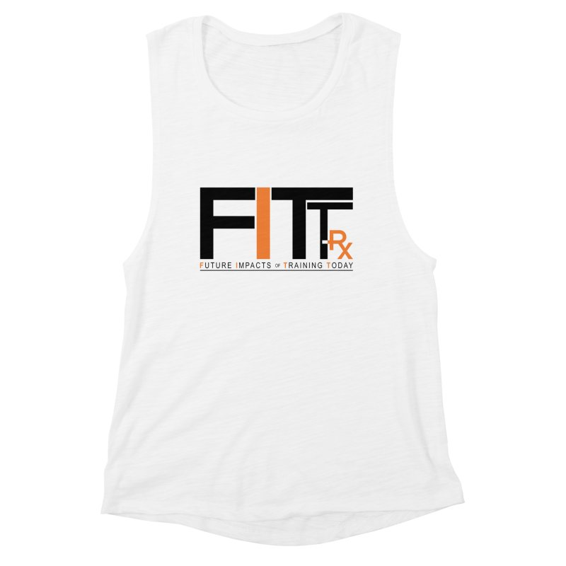 FITT-RX black logo Women's Muscle Tank by FITT-RX's Apparel Shop