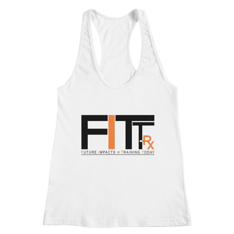FITT-RX black logo Women's Racerback Tank by FITT-RX's Apparel Shop