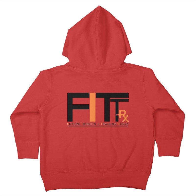 FITT-RX black logo Kids Toddler Zip-Up Hoody by FITT-RX's Apparel Shop