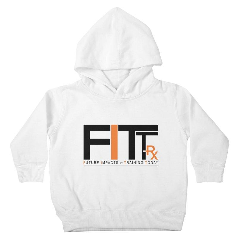 FITT-RX black logo Kids Toddler Pullover Hoody by FITT-RX's Apparel Shop