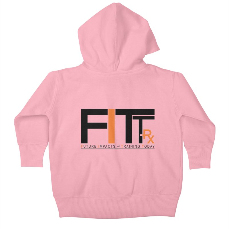 FITT-RX black logo Kids Baby Zip-Up Hoody by FITT-RX's Apparel Shop