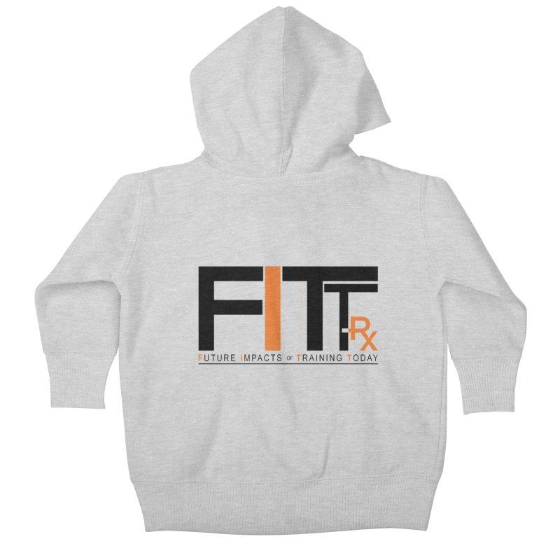 FITT-RX black logo Kids Baby Zip-Up Hoody by FITT-RX's Apparel Shop
