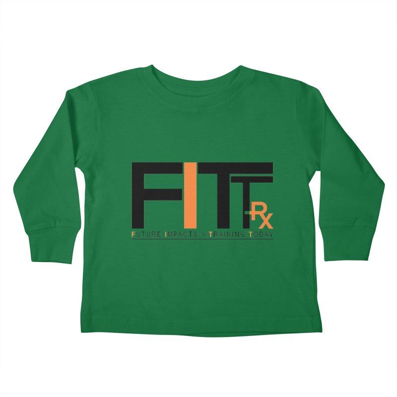 FITT-RX black logo Kids Toddler Longsleeve T-Shirt by FITT-RX's Apparel Shop