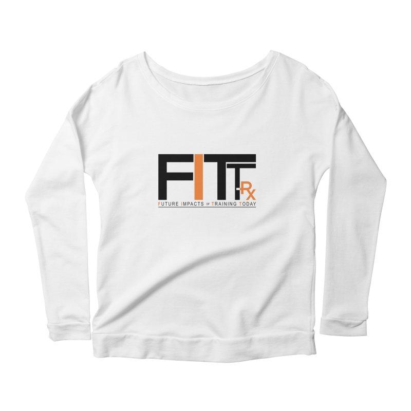 FITT-RX black logo Women's Scoop Neck Longsleeve T-Shirt by FITT-RX's Apparel Shop