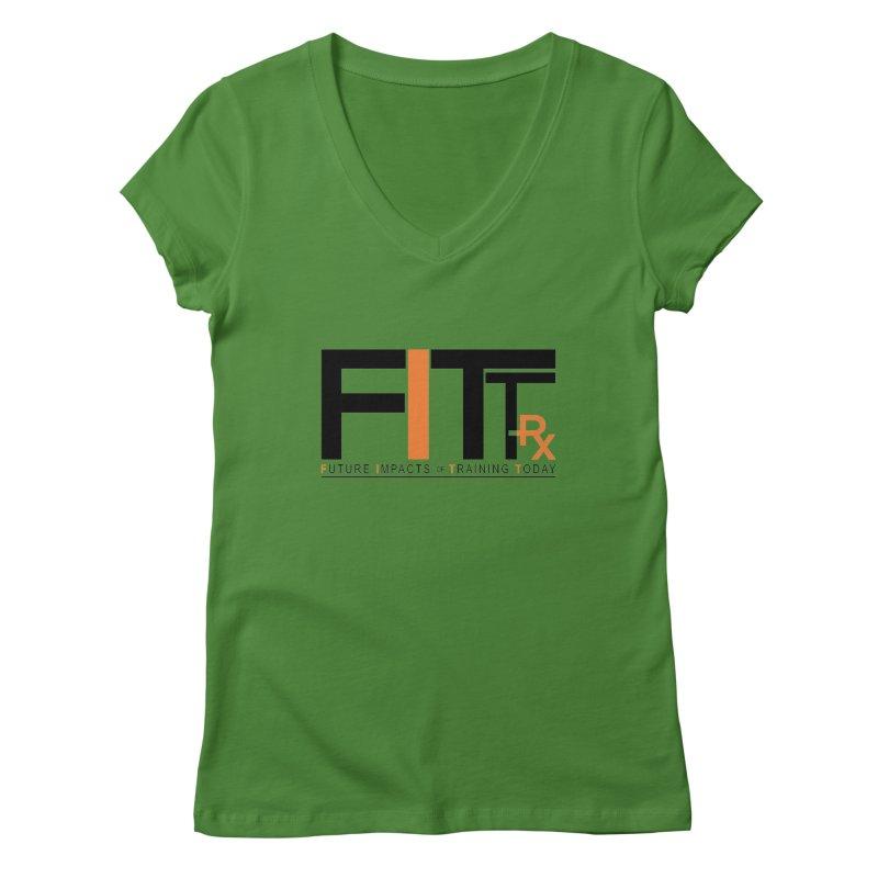 FITT-RX black logo Women's Regular V-Neck by FITT-RX's Apparel Shop