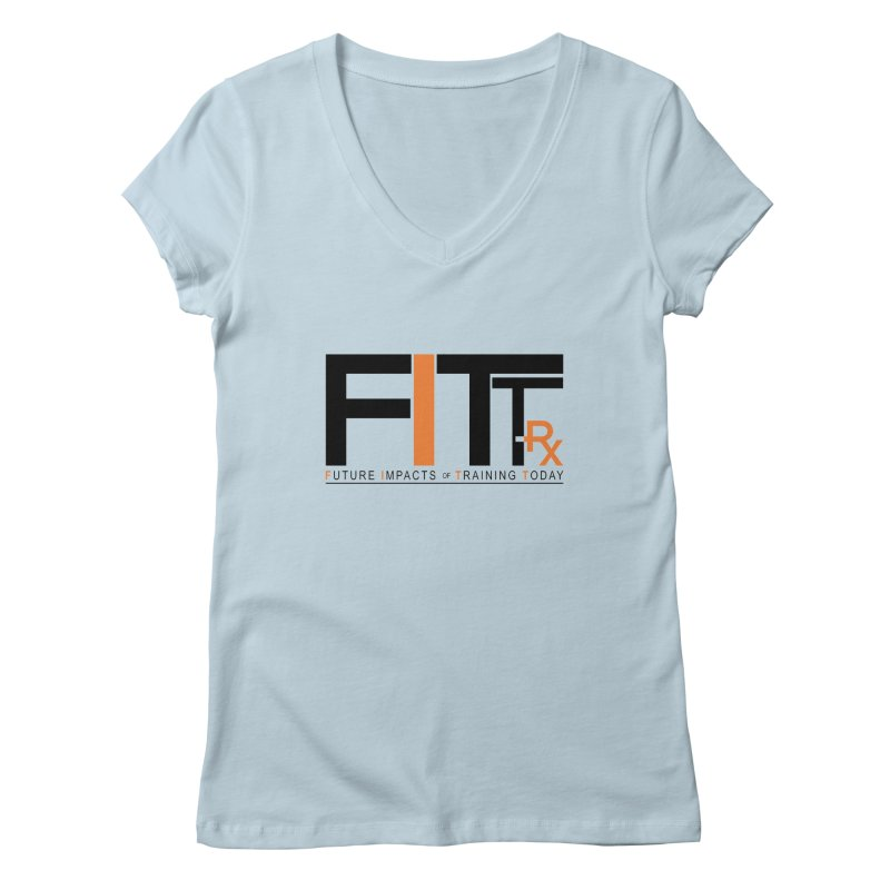 FITT-RX black logo Women's V-Neck by FITT-RX's Apparel Shop