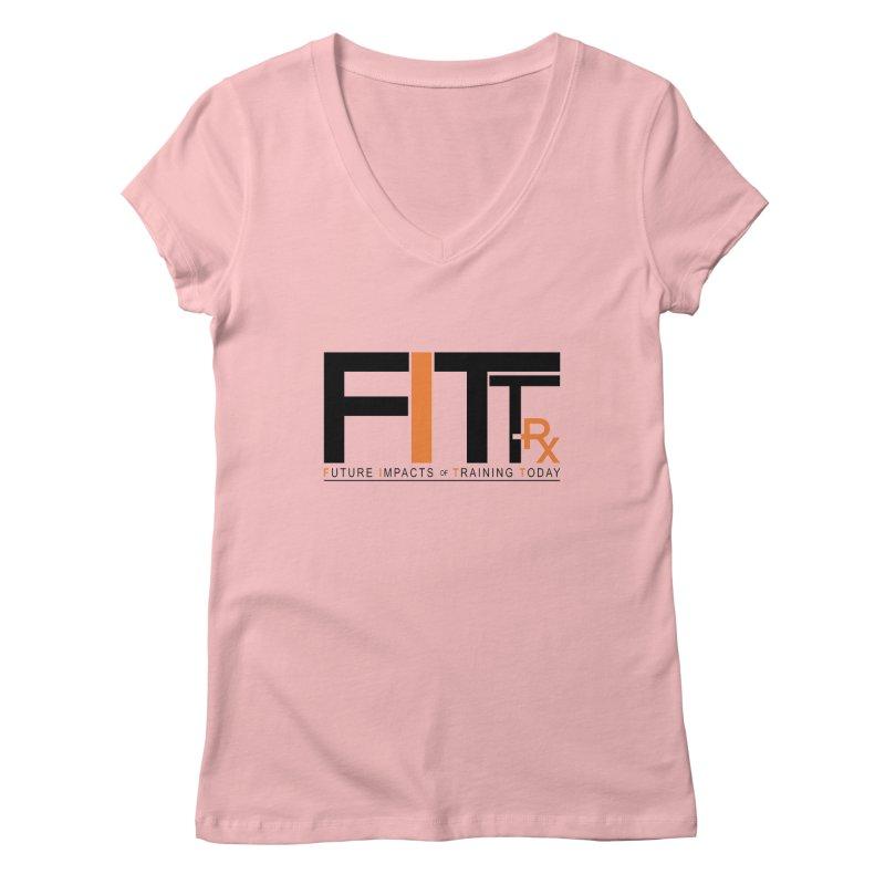 FITT-RX black logo Women's V-Neck by FITT-RX's Apparel Shop