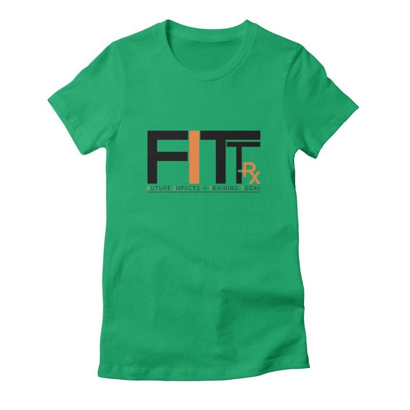 FITT-RX black logo Women's Fitted T-Shirt by FITT-RX's Apparel Shop
