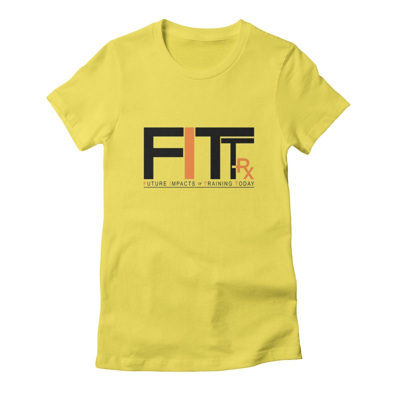 FITT-RX black logo Women's Fitted T-Shirt by FITT-RX's Apparel Shop