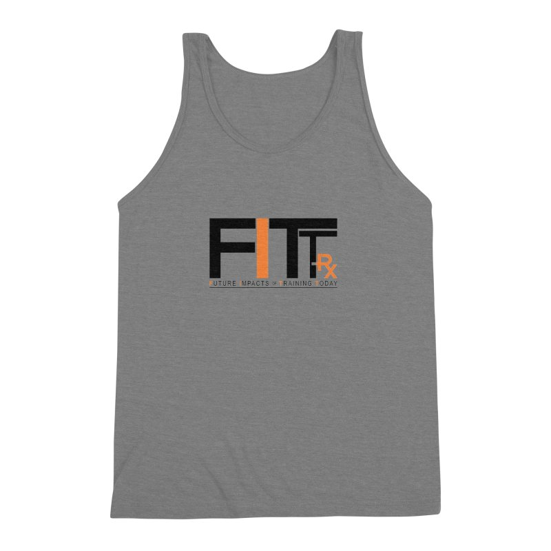 FITT-RX black logo Men's Triblend Tank by FITT-RX's Apparel Shop