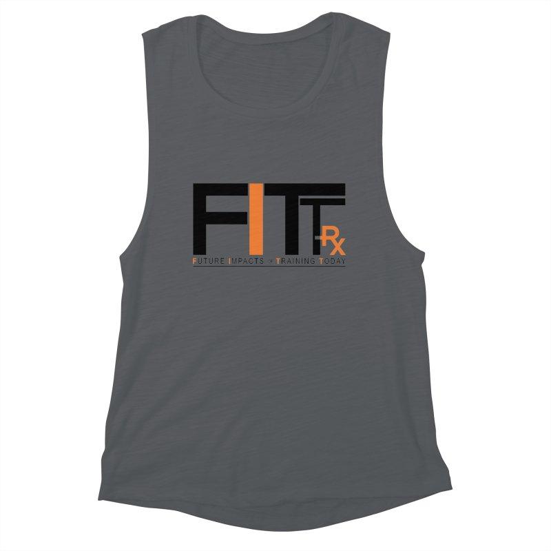 FITT-RX black logo Women's Muscle Tank by FITT-RX's Apparel Shop